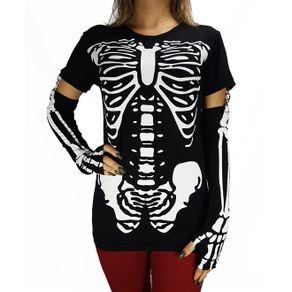 camiseta-manga-longa-esqueleto-preto