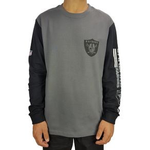camiseta-new-era-manga-longa-bicolor-oakland-raiders-cinza-escuro
