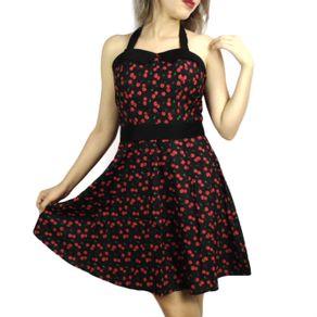 vestido-pin-up-preto-cerejas