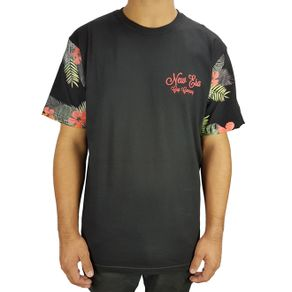 camiseta-new-era-tee-floral-preto