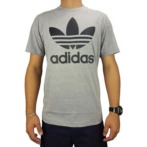 Camiseta-Adidas-Trefoil-Grey-Cinza