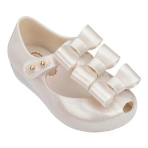 MINI-MELISSA-ULTRAGIRL-TRIPLE-BOW-BRANCO-CINTILANTE-METALIZADO