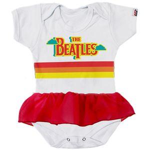 body-infantil-bebe-bandas-com-saia-the-beatles-branco
