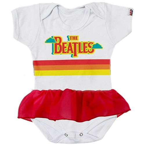 body-infantil-bebe-bandas-com-saia-the-beatles-branco