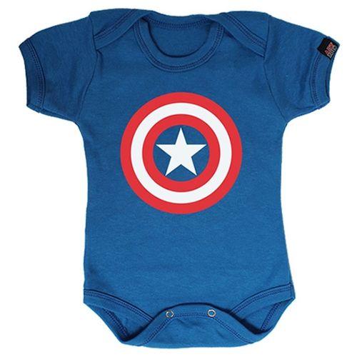 Body Infantil Bebe Personalizado Capitão América - galleryrock a8f20f8fa6a