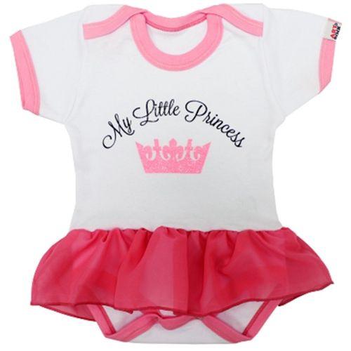 body-infantil-bebe-personalizado-com-saia-little-princess-rosa