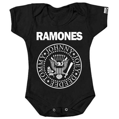 body-infantil-bebe-bandas-ramones-logo