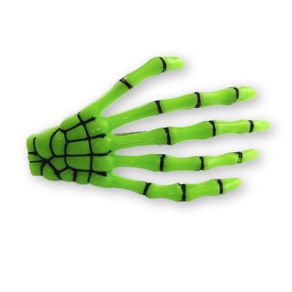 presilha-para-cabelo-mao-de-esqueleto-caveira-verde-neon