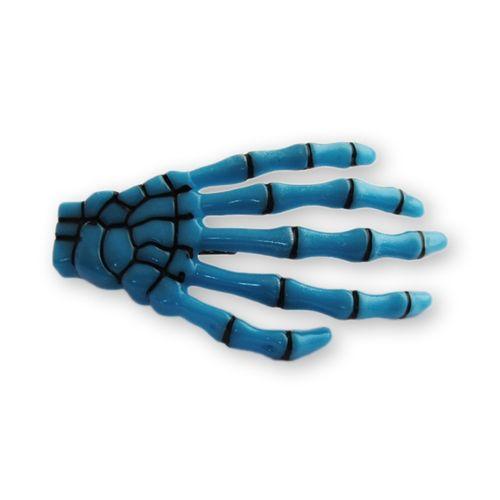 presilha-para-cabelo-mao-de-esqueleto-caveira-azul