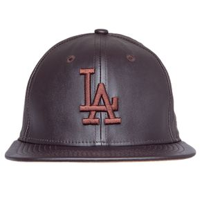 bone-new-era-9fifty-los-angeles-dodgers-strapback-leather-brown