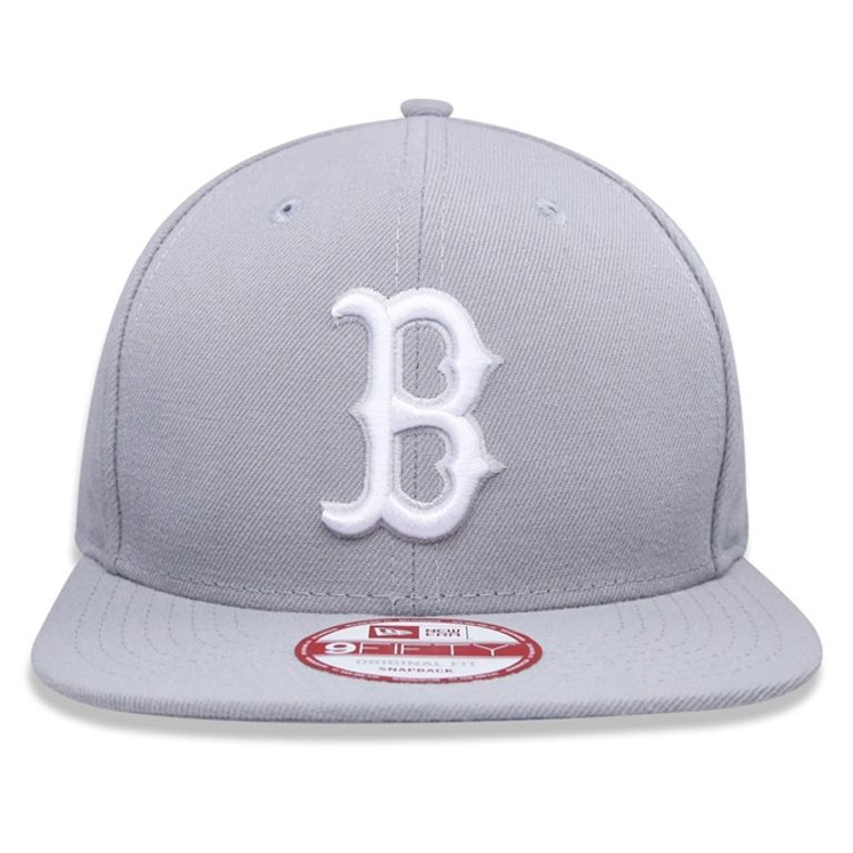 Boné New Era Boston Red Sox OSFA Snapback Cinza - galleryrock 8679da01868
