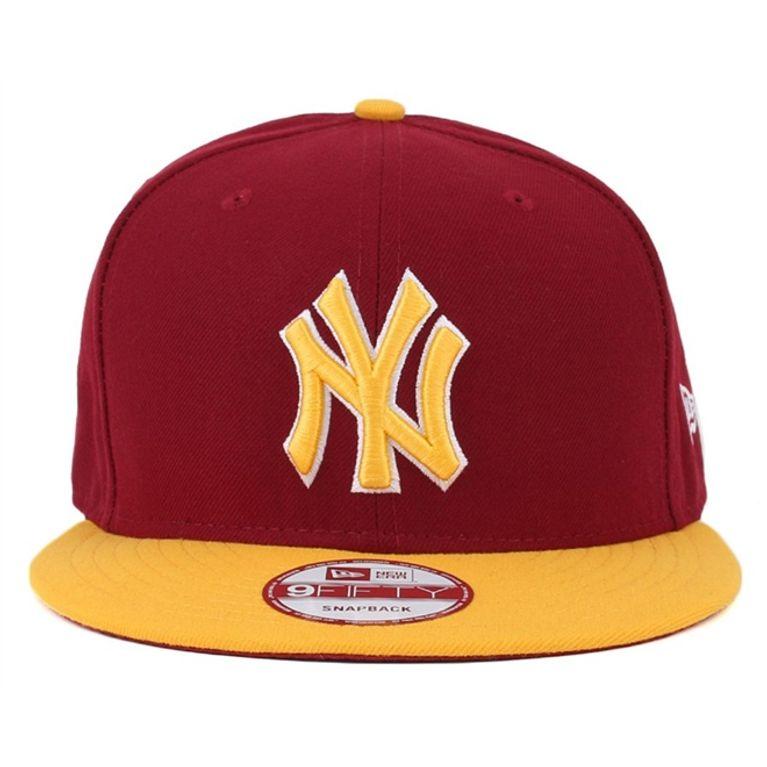 Boné New Era 9Fifty New York Yankees SnapBack Vinho Amarelo ... 181d89702be