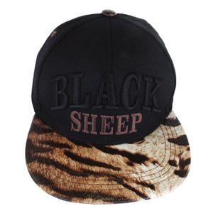 bone-black-sheep-infantil-skateboards-preto-tigre-strapback