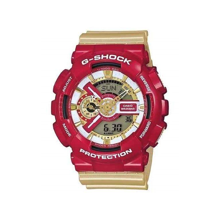 de54f0a976a Relógio Casio G Shock Vermelho Dourado GA-110CS-4A - galleryrock