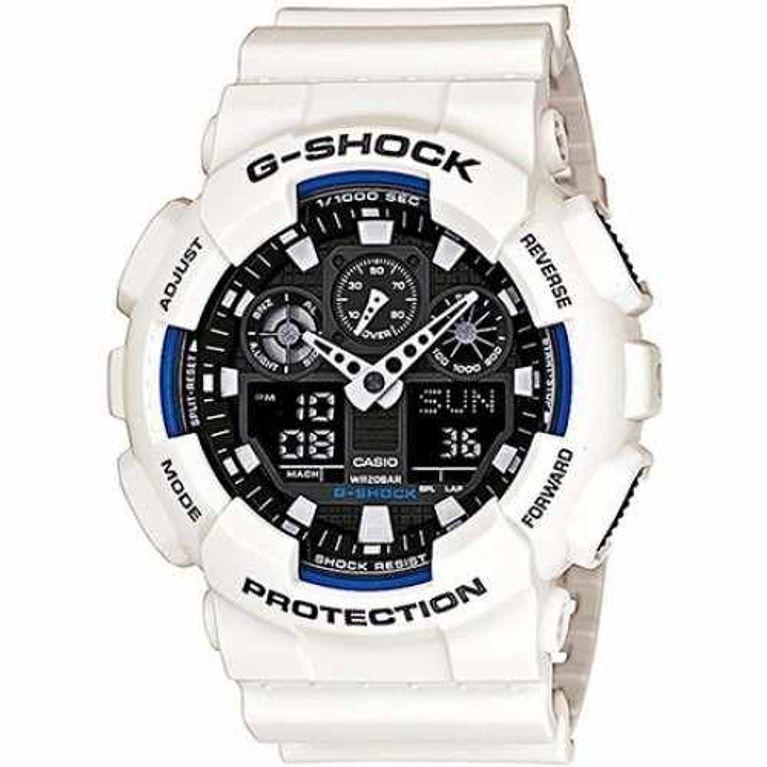 f87ea44bd2b Relógio Casio G Shock Branco Preto GA-100B-7A - galleryrock