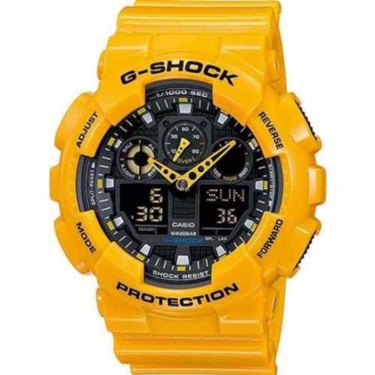 e53d234ca2d Relógio Casio G Shock Amarelo GA-100A-9A - galleryrock