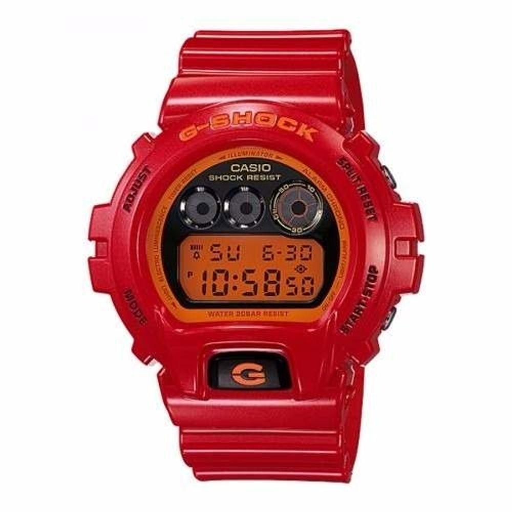 Relógio Casio G Shock Vermelho DW-6900CB-4 - galleryrock