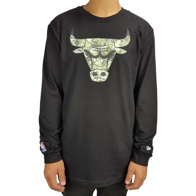 75bc5df8d Camiseta New Era Manga Longa Polka Camu Chicago Bulls - galleryrock