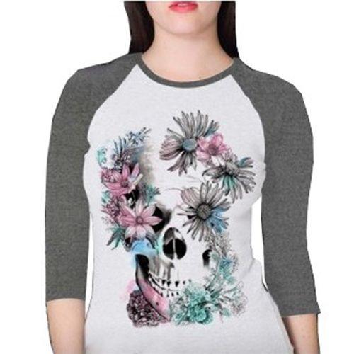 camiseta-raglan-skull-flower-branca-mescla-feminino