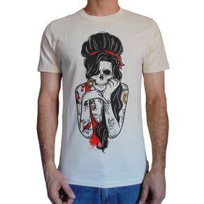 camiseta-amy-winehouse-skull-bege-masculino