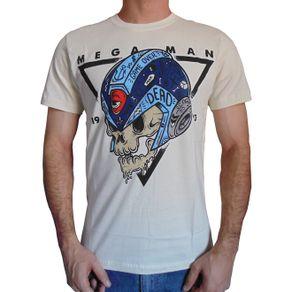 camiseta-mega-man-skull-bege-masculino