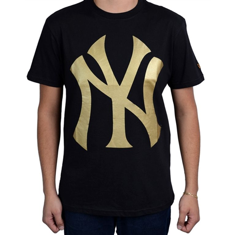 Camiseta New Era Color New York Yankees Preto Dourado - galleryrock c6e61a889b7
