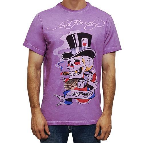 camiseta-ed-hardy-caveira-cartola-lilas-masculino