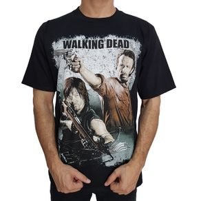 camiseta-the-walking-dead-rick-daryl-preta