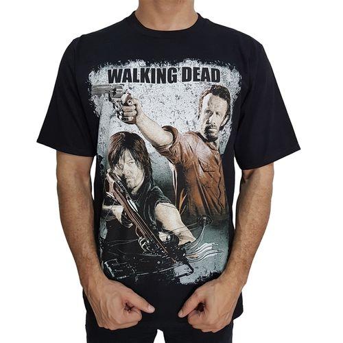 camiseta-the-walking-dead-rick-daryl-preta