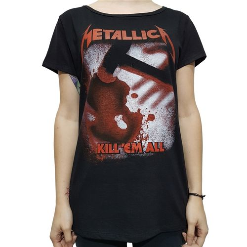 camiseta-babylook-metallica-kill-em-all