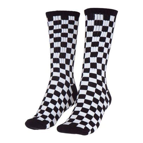 meia-vans-checkerboard-crew-branco-preto