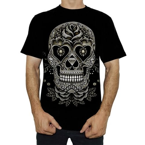 camiseta-tattoo-skull-and-roses-ts1185
