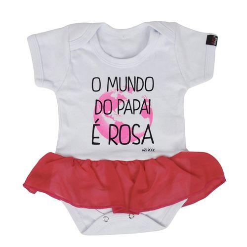 body-infantil-bebe-personalizado-com-saia-o-mundo-do-papai-e-rosa