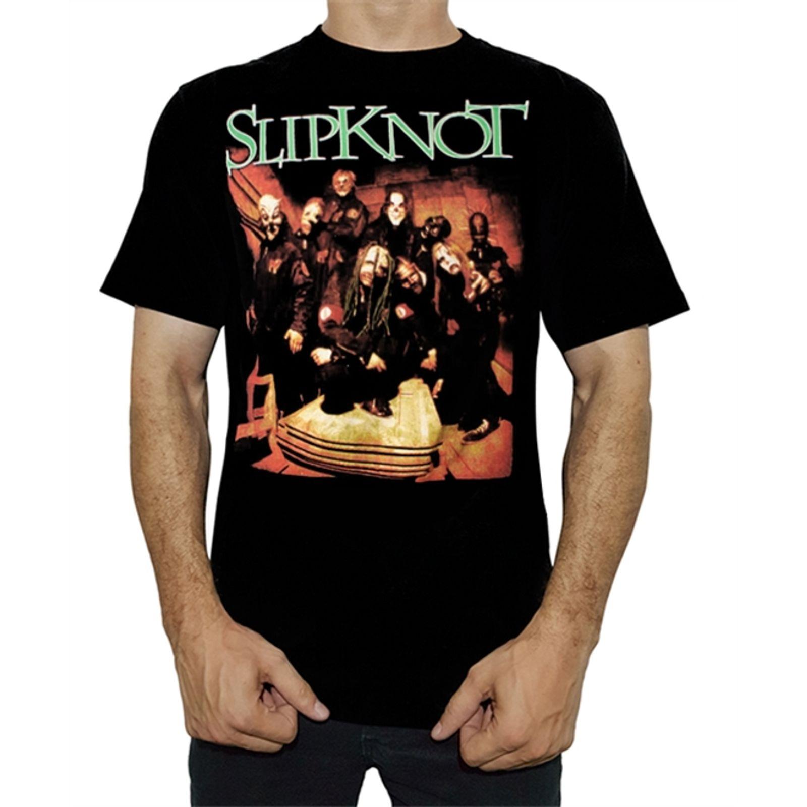 Camiseta Slipknot Negra Manga Corta Tshirt