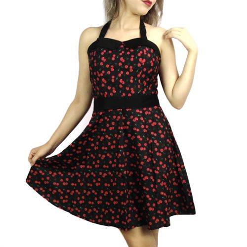 vestido-pin-up-preto-cerejas