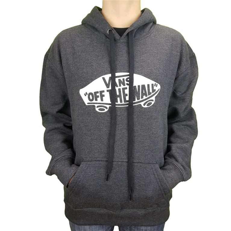 286aec1a86abd Moletom Vans OTW Pullover Fleece Black Heather Juvenil - galleryrock