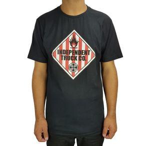 camiseta-independent-warning-preto