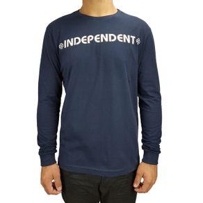 camiseta-independent-manga-longa-bar-cross-marinho