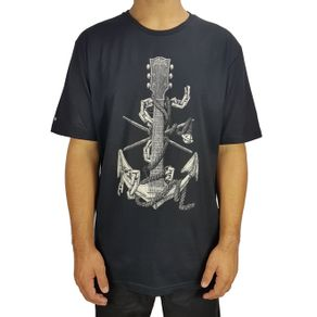 camiseta-lost-basica-anchor-preto