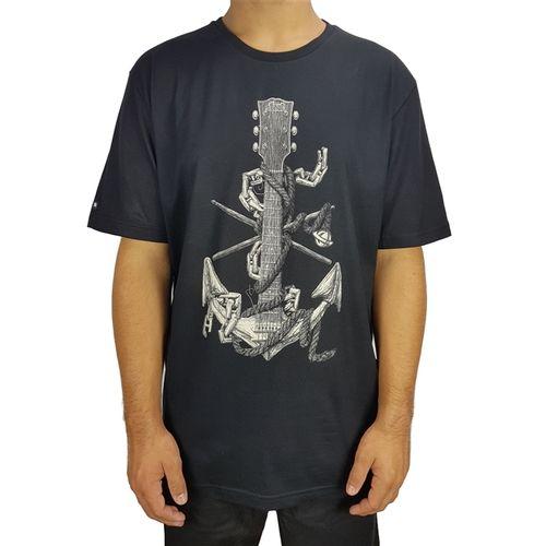 camiseta-lost-basica-anchor-preto