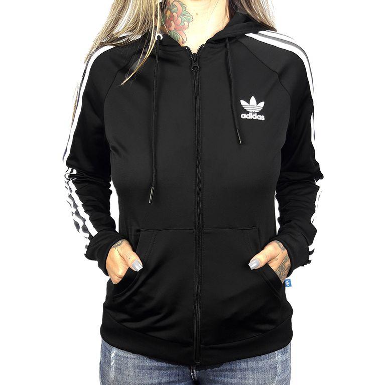 6db3b4d9f30 Blusa Adidas Slim FZ Hoodie Black - galleryrock