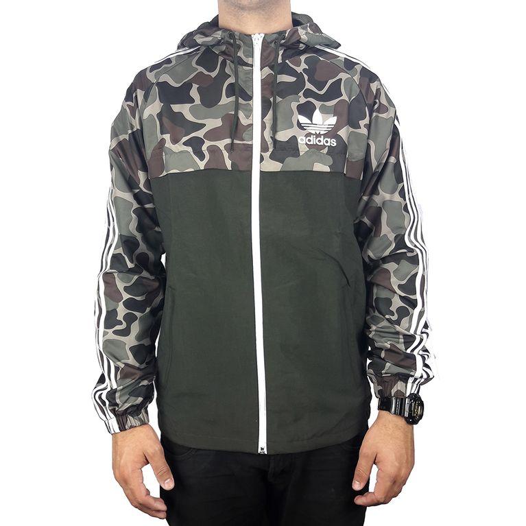 4b0ecafcf28 Jaqueta Adidas Camo Verde Corta Vento WB Camuflada - galleryrock