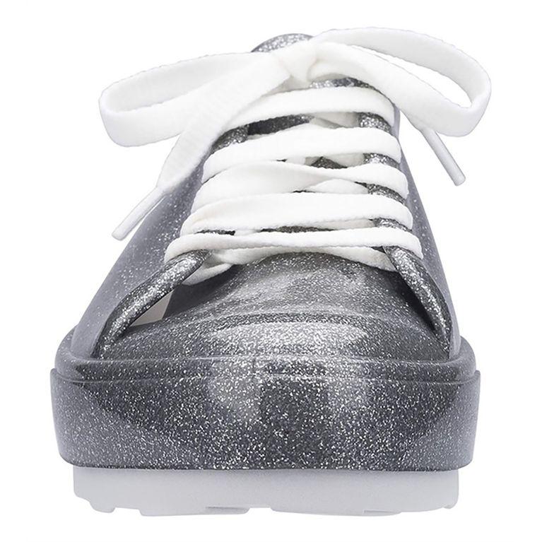 Tênis Melissa Be Vidro Glitter Prata Branco - galleryrock 90baf9e163cfc