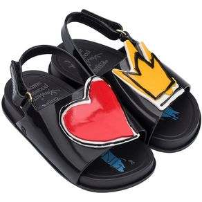 Mini-Melissa-Beach-Slide-Sandal---Vivienne-Preto-Vermelho-L212