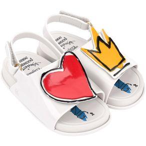 Mini-Melissa-Beach-Slide-Sandal---Vivienne-Branco-Vermelho-L212B