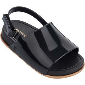 Mini-Melissa-Beach-Slide-Sandal-Preto-Bege-L213b