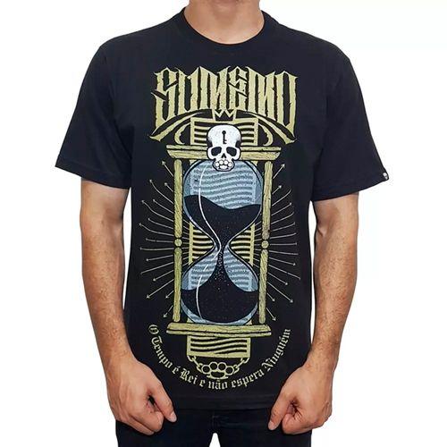 Camiseta-Sumemo-Original-Ampulheta-O-Tempo-E-Rei-Preta