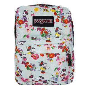 MOCHILA-JANSPORT-DISNEY-SUPERBREAK-BLOOMING-MINNIE-AZUL