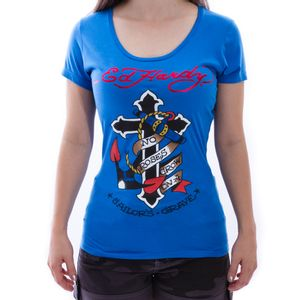 Baby-Look-Ed-Hardy-Sailors-Grave-Azul-Feminina-