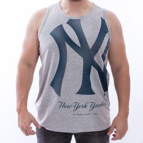 Camiseta-Regata-New-Era-Reticula-Nac-New-York-Yanskees-Mescla-Claro
